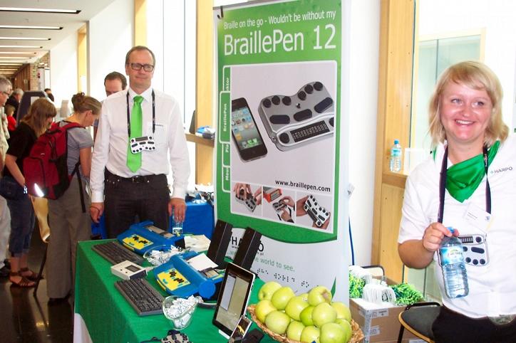 Harpo na Światowym Kongresie Brajlowskim Braille21 – Lipsk 2011 rok.