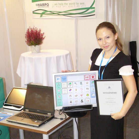 Wyróżnienie Targów Rehabilitacja 2012 w Łodzi za Tobii PCEye - jako innowacyjne urządzenie wspierające integrację społeczną.