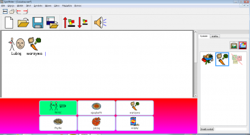 SymWriter - plansza komunikacyjna