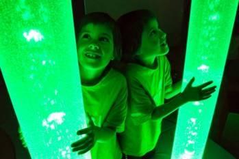 Sala Doświadczenia Świata - zielone światło